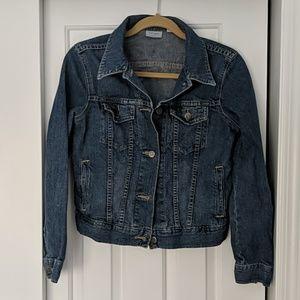 Halogen crop style denim jacket